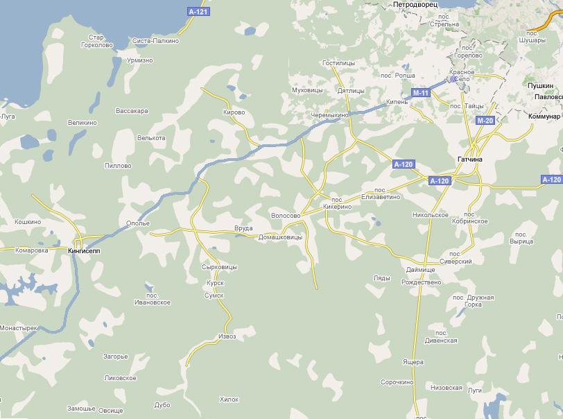 Схема маршрута Санкт-Петербург